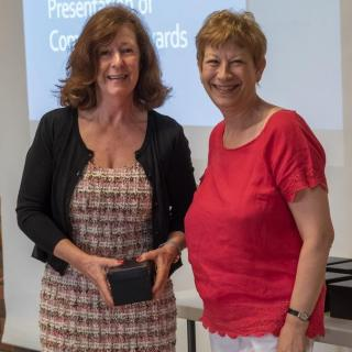 Award winner Jenny Allen with Cllr Barbara Atkins