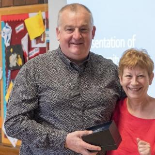Award winner Steve Crosthwaite with Cllr Barbara Atkins